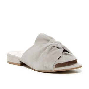 Shoes - Kenneth Cole Reaction Gray Suede Slides 9.5